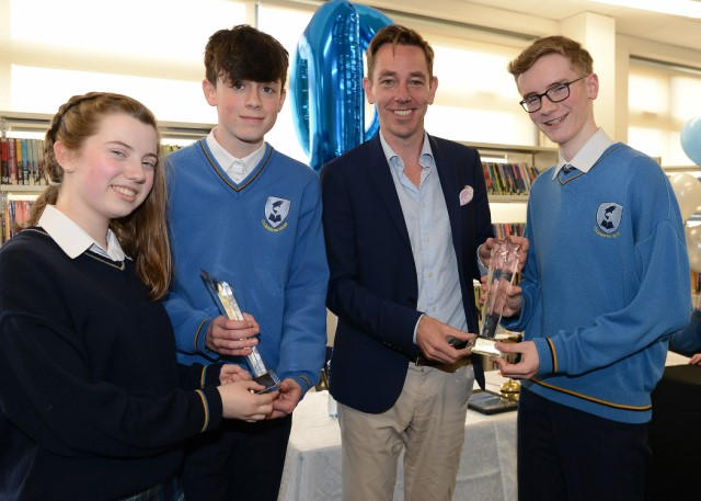 Ryan Tubridy Presenting Awards at CNI Legacy Debate 640x480