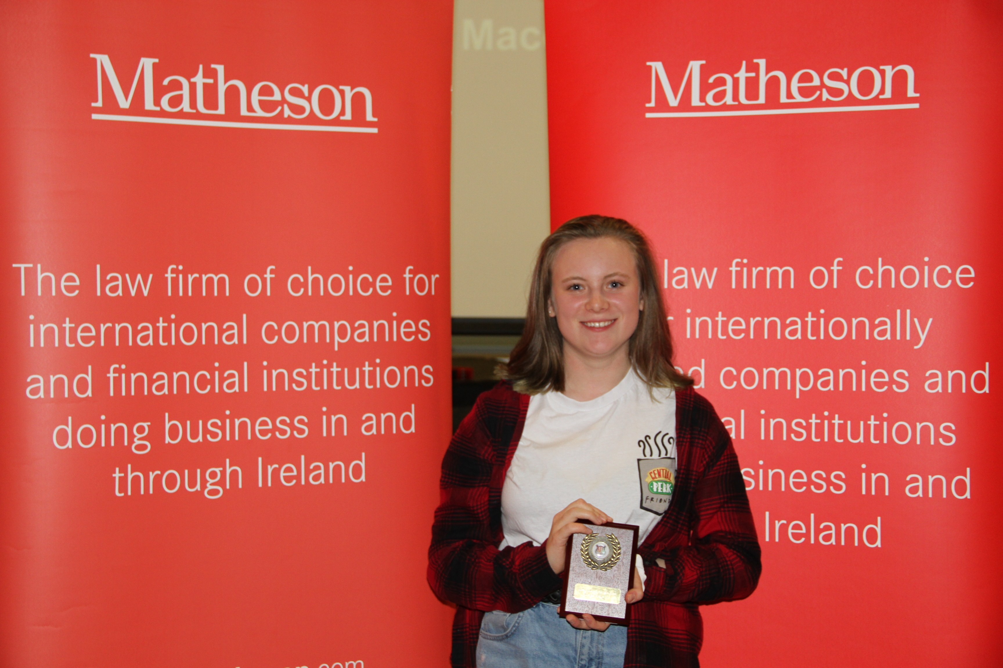 Best Speaker in Final at Junior Debating National Mace