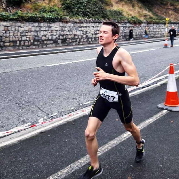 Darragh Collins Running at Dublin Triathlon 2018