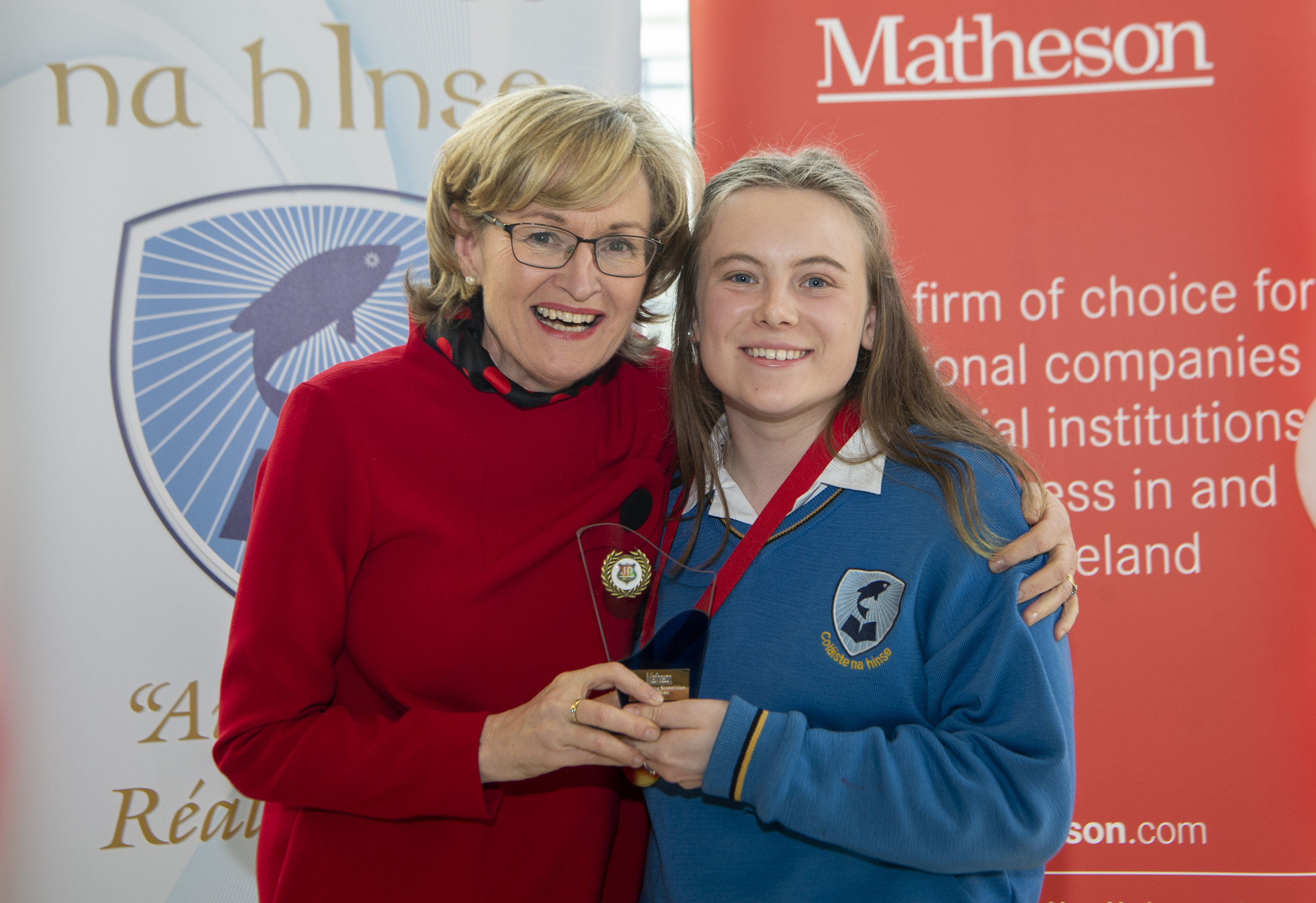 National Oratory Champion with Mairead McGuinness MEP